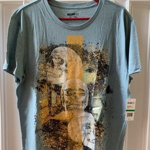 William Rast Tee T-Shirt ~ Scattered Skulls ~ NWT